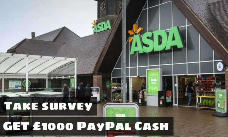 TellASDA Survey | www.TellASDA.com | Win £1,000 PayPal Money