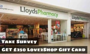 Lloyds Pharmacy Let's Talk Survey