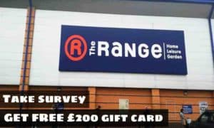 the range store feedback survey